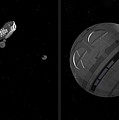 Discovery And Pod - Gently Cross Your Eyes And Focus On The Middle Image by Brian Wallace