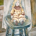 Doll On Stool by Joseph Sandora Jr