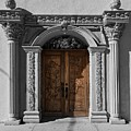 Doorway Of The Santa Teresa De Jesus Church by Mountain Dreams
