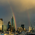Double Rainbow Over The City Of London by Gary Eason