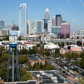 Downtown Charlotte North Carolina From The South End by Bill Cobb