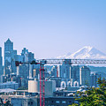 Downtown Cityscape View Of Seattle Washington by Alex Grichenko