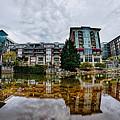 Downtown Of Greenville South Carolina Around Falls Park by Alex Grichenko