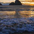 Dramatic Sunset Oregon Coast Usa by Vishwanath Bhat