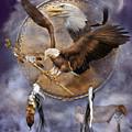 Dream Catcher - Spirit Eagle 2 by Carol Cavalaris
