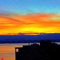 Edgewater Sunset by Maro Kentros