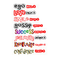 Ego Love Smile Gossip Success Jealousy Knowledge Confidence Wisdom Words Quote Pillows Tshirts Curta by Navin Joshi