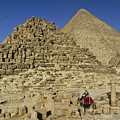 Egypt's Pyramids Of Giza by Michele Burgess