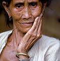 Elderly Woman In Laos by Carl Purcell