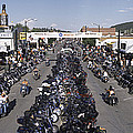 Elevated Panoramic View Of Main Street by Panoramic Images