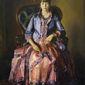 Emma In A Purple Dress by George Bellows