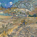 Enclosed Wheat Field With Peasant by Vincent van Gogh