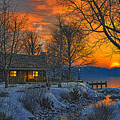 End Of Day  Beginning Of Winter by Randy Earles