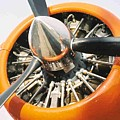 Engine And Propellers Of Aircraft Close Up by R Muirhead Art