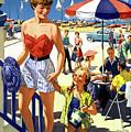 England Weston Super Mare Vintage Travel Poster by Vintage Treasure