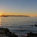 English Bay Sunset by Ross G Strachan