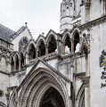 Entrance To Royal Courts Of Justice London by Shirley Mitchell