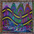 Ethnic Wedding Decorations Abstract Usring Fabrics Ribbons Graphic Elements by Navin Joshi