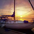 Evening Harbor At Rest by Debra and Dave Vanderlaan