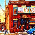 Fairmount Bagel In Winter by Carole Spandau