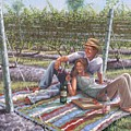Vineyard Picnic by Gary M Long