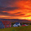 Farm At Sunset In Wentworth Valley by Irwin Barrett