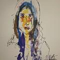 Female Face Study  B by Edward Wolverton