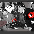 Ferdinand Porsche Showing The Prototype Of The Vw Beetle To Adolf Hitler 1935-2015 by David Lee Guss