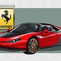 Ferrari Sergio With 3d Badge  by Serge Averbukh