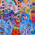 Fiesta Calaveras by Pristine Cartera Turkus