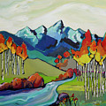 Fire Aspens by Jessi West Lundeen