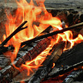 Fire At The Beach IIi by Mariola Bitner