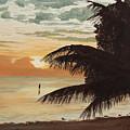 Fisherman At Sunrise by Johanna Lerwick