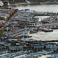 Fisherman's Wharf And Pier 39 Aerial Photo by David Oppenheimer
