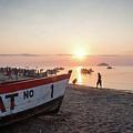 Fishing Boats And The Informal Market - Senga Bay Lake Malawi by Gareth Pickering