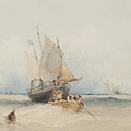 Fishing Boats Off Lowestoft by MotionAge Designs