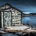 Fishing Shack And Wharf In Norris Point, Newfoundland by Mike Organ