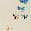 Five Butterflies by Odilon Redon