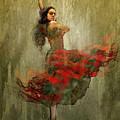 Flamenco In Red by Boghrat Sadeghan