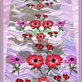 Flower Mania Anemone Fantasy Wave Design Created Of Garden Colors Unique Elegant Decorations by Navin Joshi