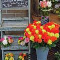 Flower Shop Display In Paris, France by Richard Rosenshein