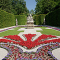 Flowerbeds And Sculptures In Eastern Parterre by Aivar Mikko