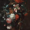 Flowers In A Vase by Philip van Kouwenbergh