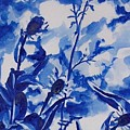 Flowers In Blue by Liz Adkinson