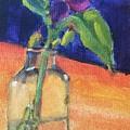 Flowers In Glass Vase by Katherine  Berlin