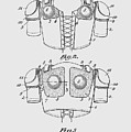 Football Shoulder Pads Patent 1913 by Chris Smith