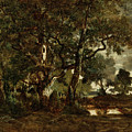 Forest Of Fontainebleau by Theodore Rousseau