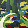 Formal Garden On Canvas by Frederic Kohli