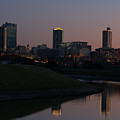 Fort Worth Skyline At Sunset by Lori Godfrey