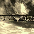 Fort Worth Stockyards District Archway by L O C